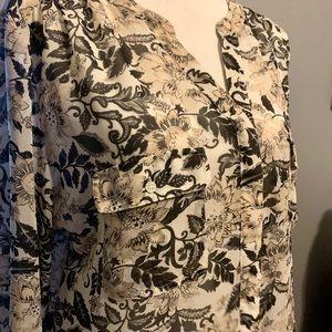 Print LOFT blouse
